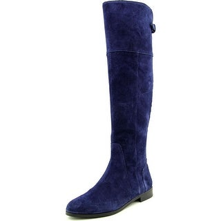 Charles By Charles David Reed Women Round Toe Suede Blue Over the Knee Boot
