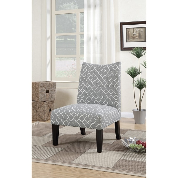 Shop Polyster Fabric Accent Chair In Patterned Fabric