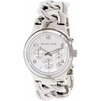 Michael Kors Women's Runway Twist MK3149 Silver Stainless-Steel Dress Watch