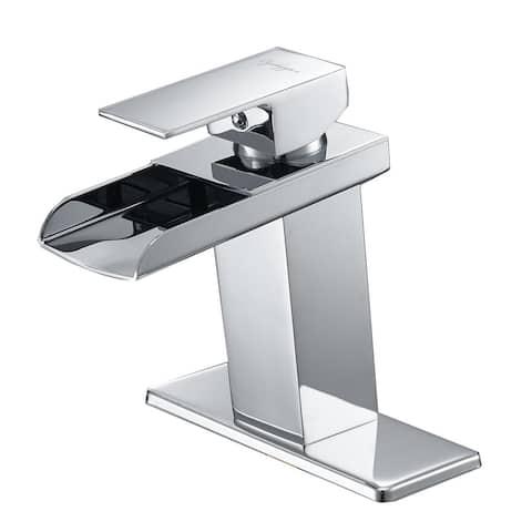 Single-Hole Bathroom Faucet With Drain
