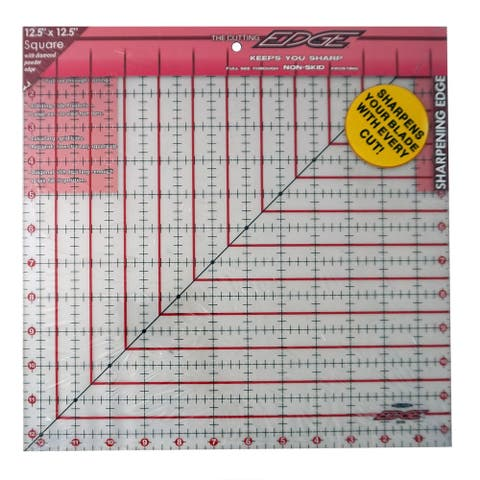 "Sullivans Cutting Edge Sharpening Edge Ruler 12-1/2in Square - 2"" x 14"" x 14"""