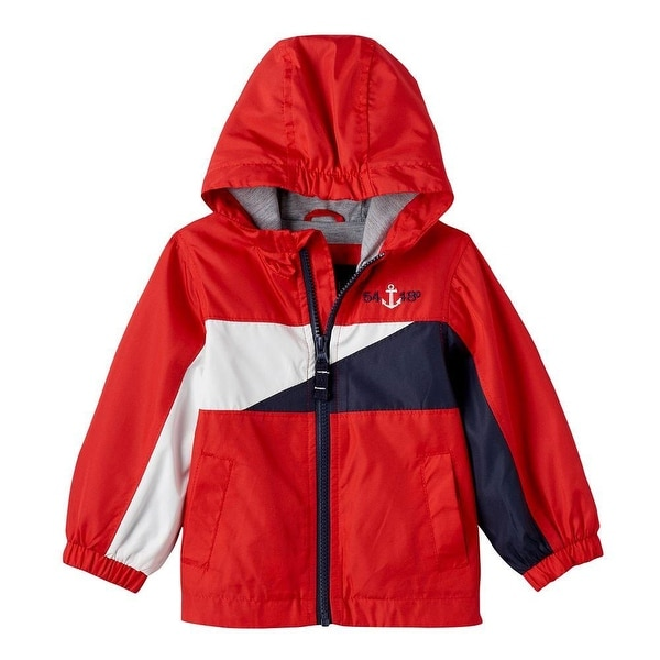 London Fog Boys 12-24 Months Light Weight Spring Jacket - Red
