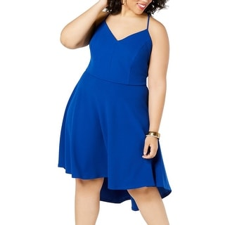 Link to B. Darlin Womens A-Line Dress Blue 22W Plus High Low Lace Back-Cutout Similar Items in Dresses