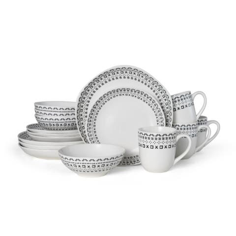 Fitz and Floyd Maric Tribal 16 piece Dinnerware Set (Service for 4)