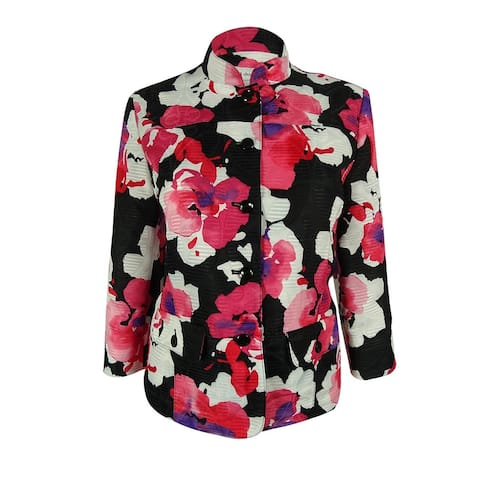 Alfred Dunner Women's Floral Print Jacket - Multi