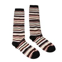 Missoni GM00CMD5219 0003 Burgundy/Peach Knee Length Socks
