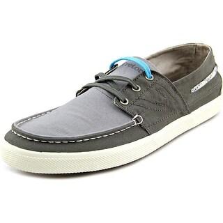 Tretorn Otto Men Moc Toe Canvas Gray Boat Shoe