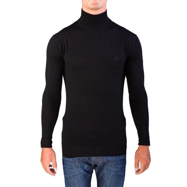 Valentino Men's Mock Neck Sweater Black