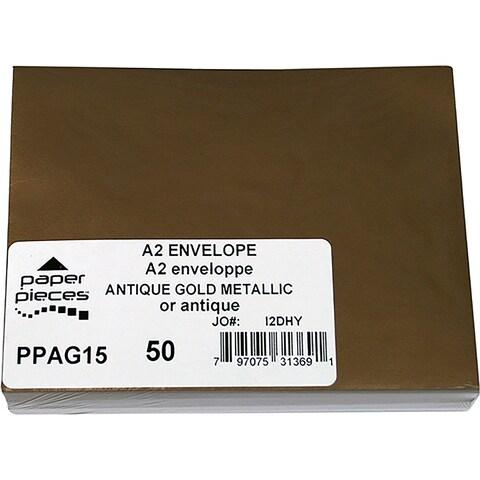 Antique Gold - A2 Metallic Envelopes 50/Pkg