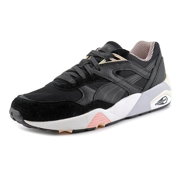 Puma R698 X Vashtie Men  Round Toe Suede Black Sneakers