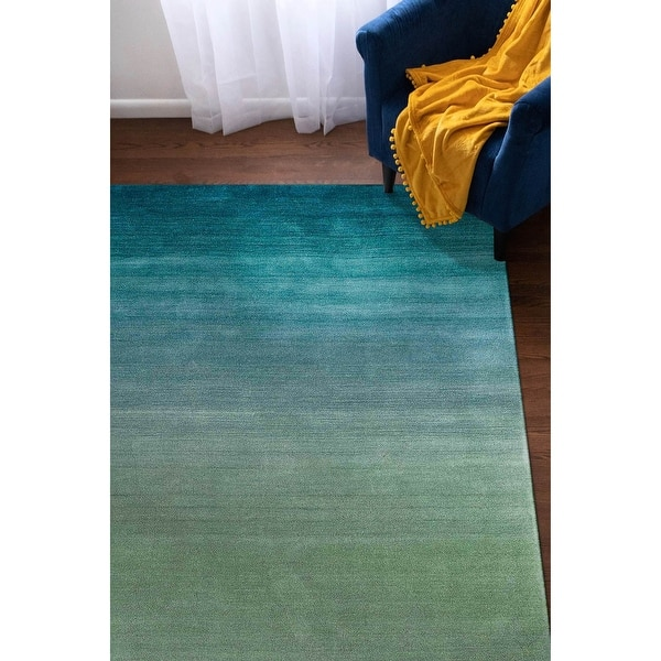 Liora Manne Vienna Ombre Boxes Indoor Rug Aqua