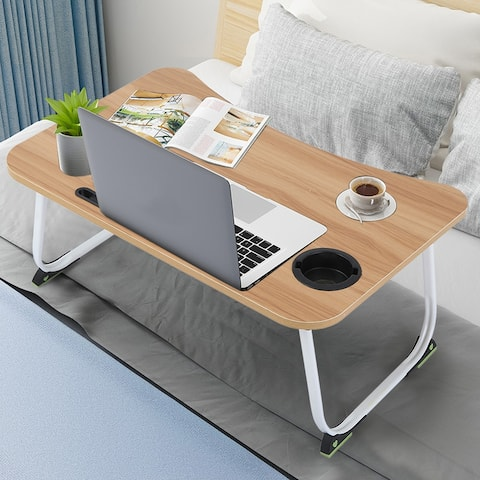 Large Bed Tray Foldable Portable Multifunction Desk Lazy Table - 23.6x15.7x11 inch