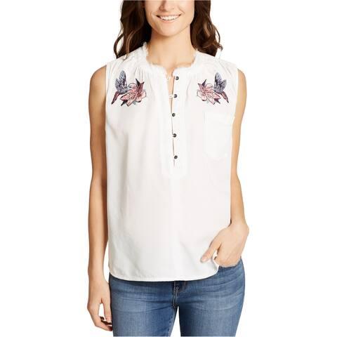 William Rast Womens Anaya Henley Shirt