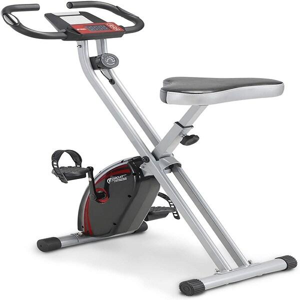 Creative K Folding Magnetic Upright Exercise Bike with Pulse - Medium