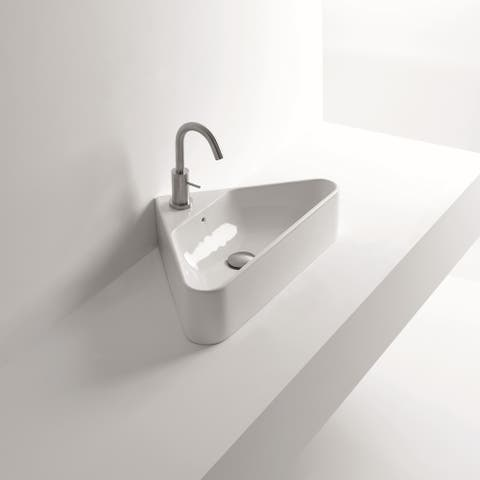 "WS Bath Collections Normal 04C 22-1/16"" Ceramic Vessel Bathroom Sink - White"