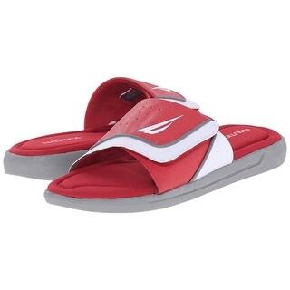 Nautica Men Bilander Slide Sandals - Red