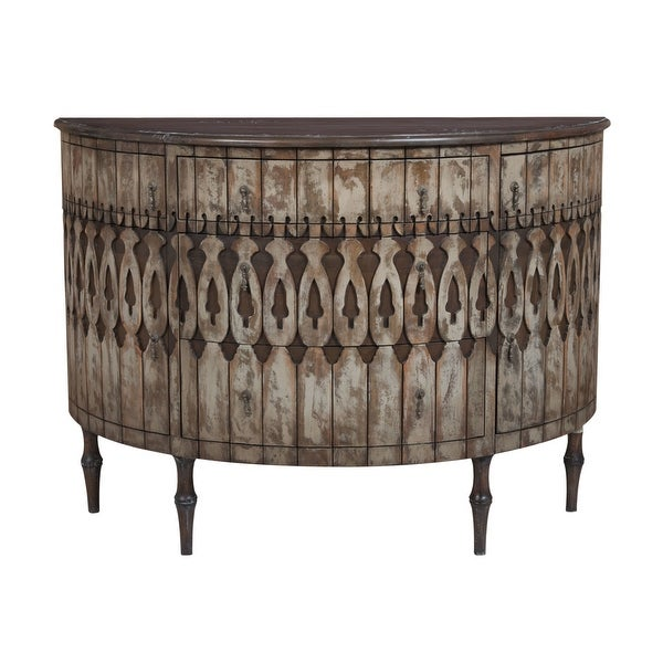 """Elk Home 643505 Artifacts 55"""" Wide Hand Carved Mahogany Sideboard - Antique Taupe"""
