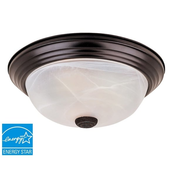 Designers Fountain ES1257M Medium Energy Star Two Light Flushmount Ceiling Fixture with Twist-Lock Glass - Bulbs Included