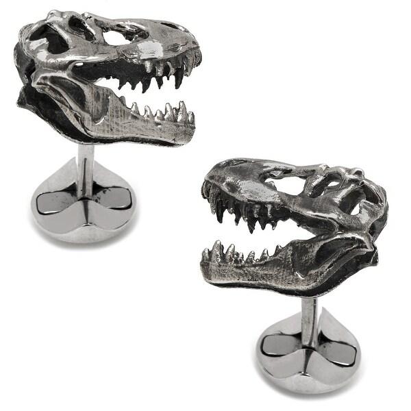 Sterling T-Rex Dinosaur Skull Cufflinks