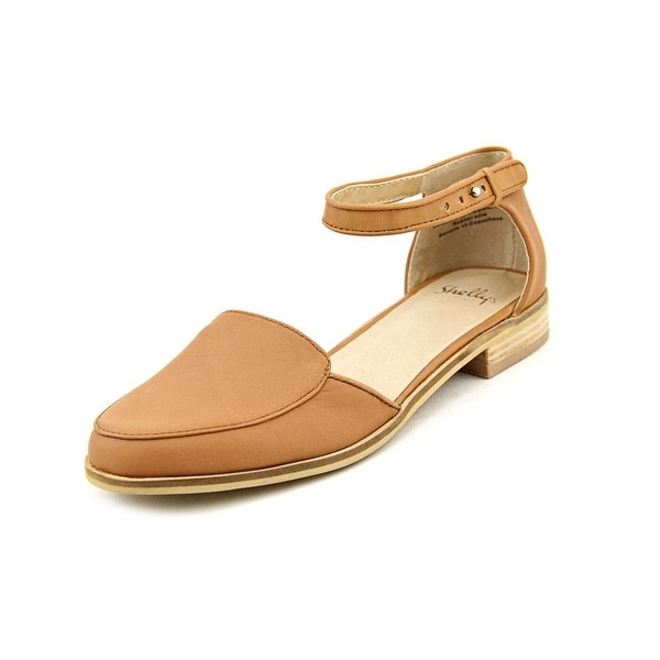 Shellys London Laolla Women Round Toe Leather Tan Mary Janes