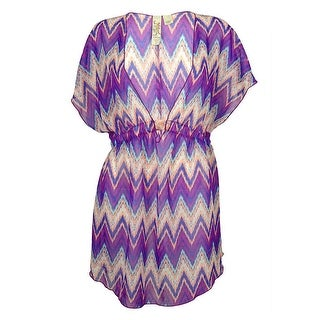 Miken Women's Chevron Dress Swin Cover ups