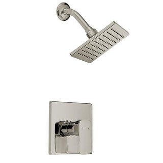 Design House 547729  Shower Trim Package with Single Function Shower Head - Satin Nickel