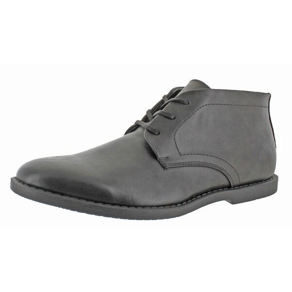 Calvin Klein Men's Fremont Faux Leather Chukka Boots