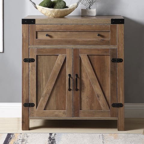 Merax 2 Barn Door Accent Cabinet Entryway Table