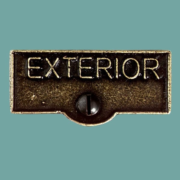 Switch Plate Tags Exterior Name Signs Labels Cast Brass Overstock 14047632
