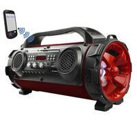 Boytone BT-50RD Portable Bluetooth Speaker, Indoor/Outdoor 2.1 Hi-Fi Cylinder Loud Sound Built-in 2 x 5 Subwoofer, 2 x 2 Tweeter