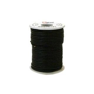 LF Round Lace 2mm Black 25yd Spool