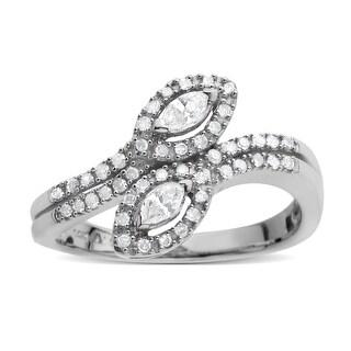 1/3 ct Diamond Ring in 14K White Gold - Size 7