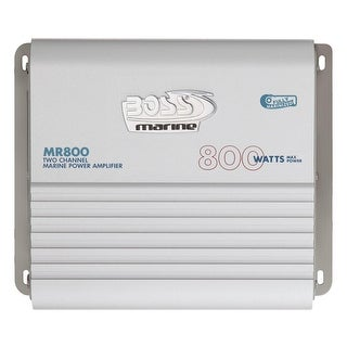 Boss Audio Mr800 Marine Power Amplifier 2-Ch Mosfet Bridgeab - MR800