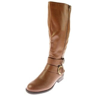 LifeStride Womens X-Must Knee-High Boots Wide Calf Faux Leather