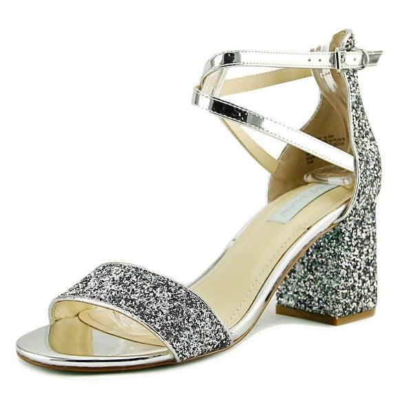 Betsey Johnson Libra Women Open Toe Synthetic Silver Sandals