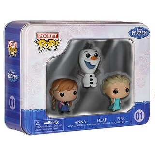 Disney's Frozen Funko Pocket POP Vinyl Figure 3-Pack Tin Elsa, Anna and Olaf - multi
