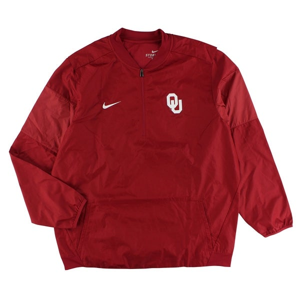 1cd409bfc40a Shop Nike Mens Oklahoma University Lockdown Quarter Zip Hoodie Red - Free  Shipping Today - Overstock - 22545166
