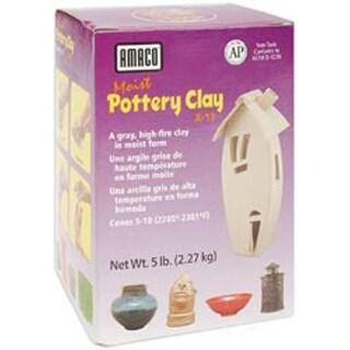 Gray - Moist Pottery Clay 5Lb