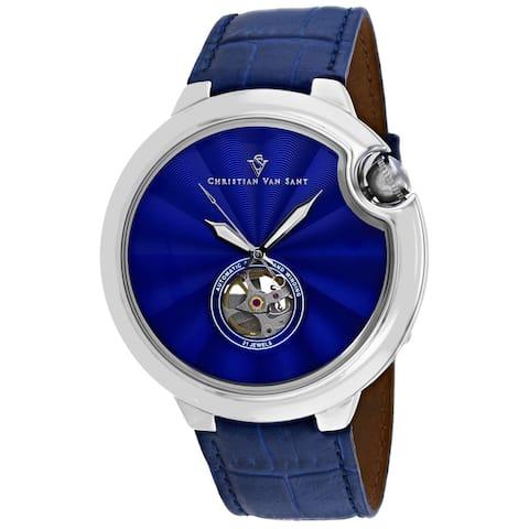 Christian Van Sant Men's Cyclone Automatic Blue Dial Watch - CV0140