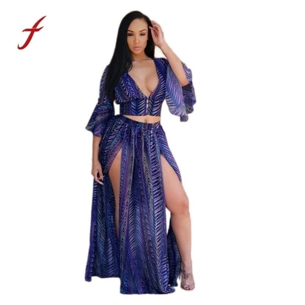 56e7daa10f Shop Vestidos Femininos Women Summer Style Chiffon Long Maxi Dresses  Evening Party Night Club Wear Beach Boho Casual Dress - Free Shipping On  Orders Over ...