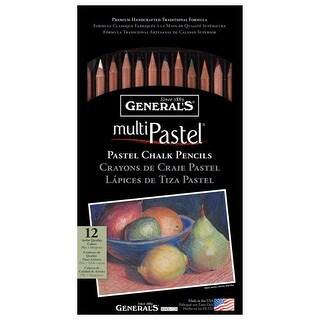 General Pencil - Pastel Chalk Pencil Set - 8-Color Set - Neutral