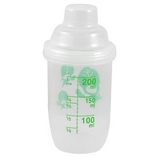 Unique Bargains 14cm Hight Lidded Clear Plastic Water Bottle Cup 200ml