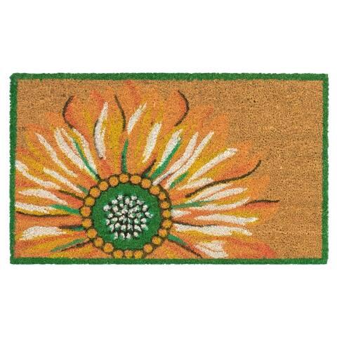 """Liora Manne Summer Flower Coir Welcome Door Mat (1'6"""" x 2'6"""")"""