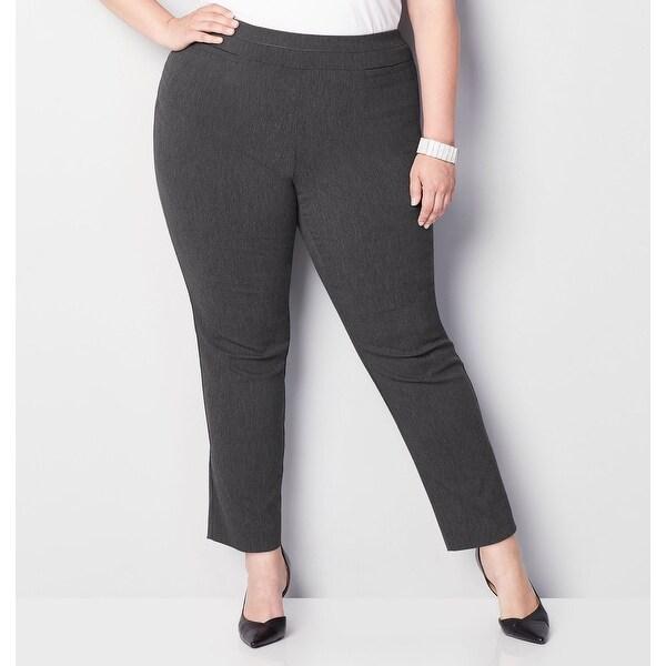 4f19de6a6 Shop AVENUE Women s Super Stretch Welt Pocket Pull-On Pant in Grey ...