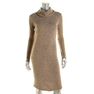 Lauren Ralph Lauren Womens Cable Knit Cowl Neck Sweaterdress