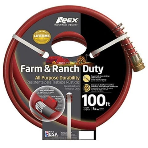 Apex 989-100 0.75 in. x 100 ft. Farm & Ranch Hose