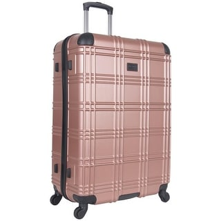 Link to Ben Sherman 'Nottingham' 28-inch Lightweight Hardside 4-wheel Spinner Upright Checked Suitcase Similar Items in Wheeled & Checked Luggage