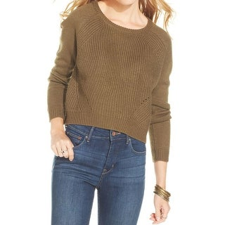 Rebellious One Womens Juniors Crop Sweater Knit Crop