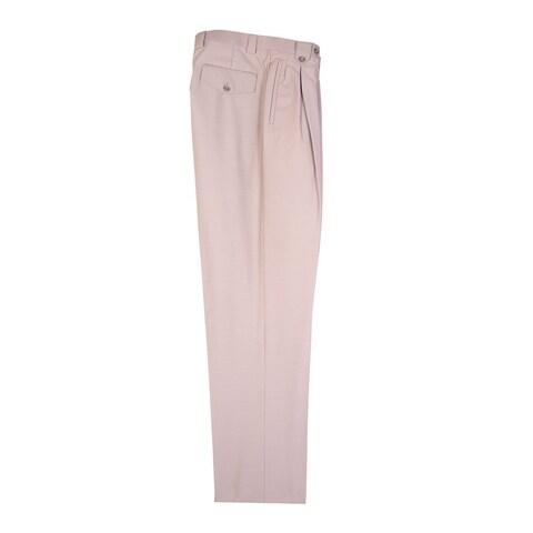 Tan Wide Leg Dress Pants Pure Wool by Tiglio Luxe
