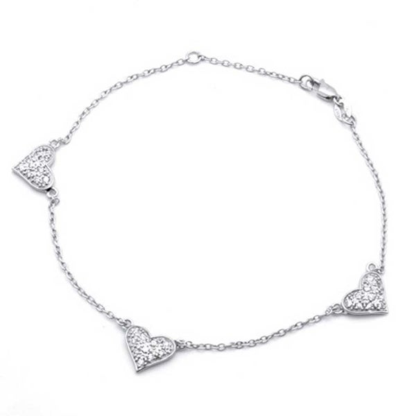 Bling Jewelry Pave CZ Rose Gold Plated Silver Happy Starfish Anklet 8.5in muLjy